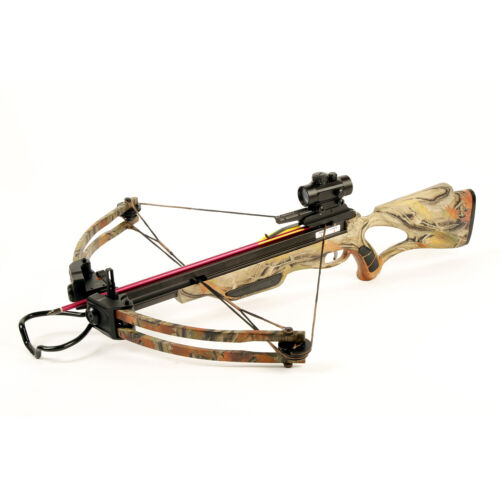 175 lb Camouflage Compound Crossbow Bow +Red Dot Scope +All Accessories 150 180Crossbows - 33972