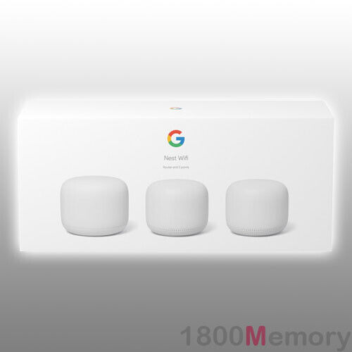 Google Nest Wifi Home Mesh Wi-Fi System Wireless Router Point 3 Pack 802.11s