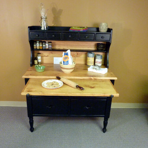 Missouri Pine Baking Cabinet, USA made Antique Hoosier Style Reproduction