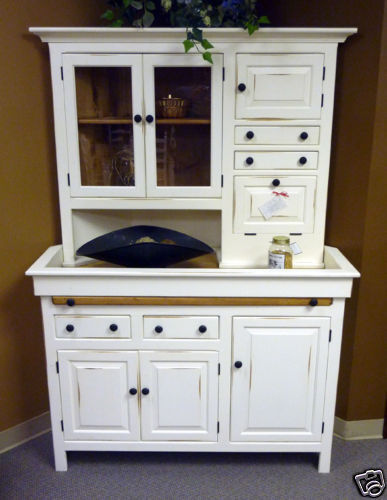 PINE CORNER HOOSIER Cabinet, Unusual Design,USA Reproduction