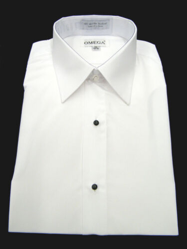 "NEW Microfiber Tuxedo Shirt ""Laydown Collar"", Non pleat, White"