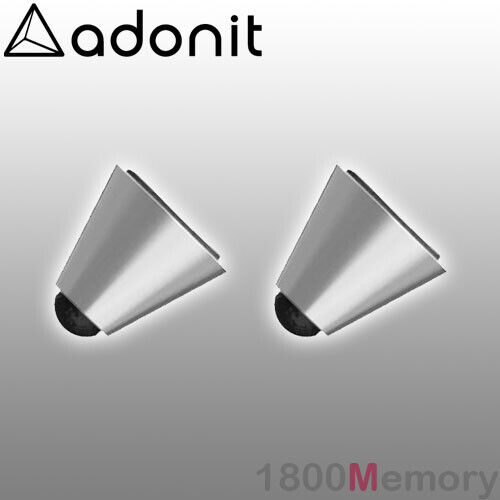 GENUINE Adonit Dash 3 Stylus Pen Replacement Tips 2 Pack Tip Silver Black Rubber