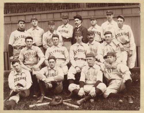 "1896 Pittsburgh Pirates,Antique BASEBALL team photo repo, Giclee print, 20""x16"""