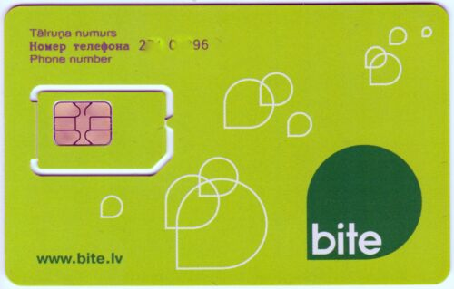 LATVIA - BITE- PREPAID PHONE GSM  SIM Card. NEW Unactivated and un-punched