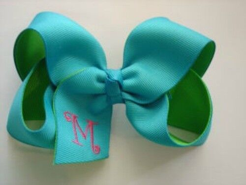 layered LG  Boutique Monogrammed Hair bow-You design
