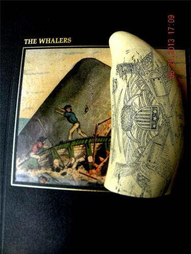 "Scrimshaw Sperm whale tooth resin replica ""UNION FLAGS ""6 inch  SUPER DETAILS!"
