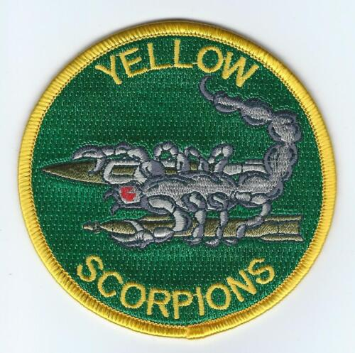 /'YELLOW SCORPIONS/'       HOOK /& LOOP   COLOR USAF 134TH FIGHTER SQ PATCH