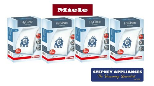 MIELE-GENUINE-GN-HYCLEAN-3D- 4 BOXES  -VACUUM-BAGS-16-BAGS-8-FILTERS