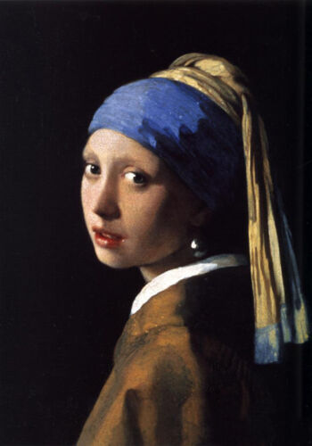 Dream-art Oil painting Johannes Vermeer - The Girl With The Pearl Earring Scarf