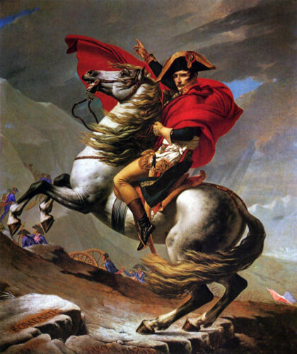 Dream-art Oil painting Jacques Louis David Napoleon Crossing the Alps Gray Horse