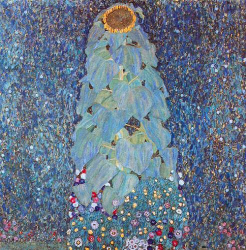 Excellent Oil painting Gustav Klimt - still life Sunflower canvas