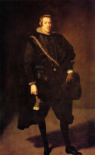 Nice Oil painting Diego Velazquez - Young man Infante Don Carlos standing canvas