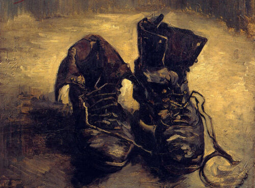 Art Oil painting Vincent Van Gogh - Still life pair of shoes canvas