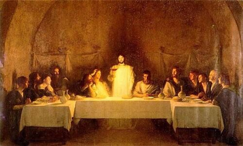 """Dream-art Oil painting Christ Jesus Christians The Last Supper in oil canvas 36"""""""