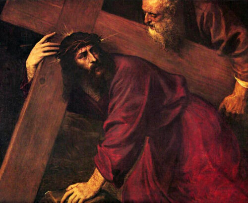 Dream-art Oil painting Tiziano Vecellio Christ Carrying the Cross no framed art