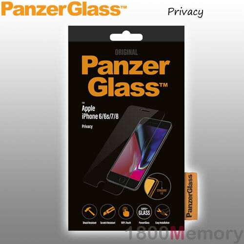 GENUINE PanzerGlass Privacy Tempered Glass Screen Protector f Apple iPhone 6 7 8