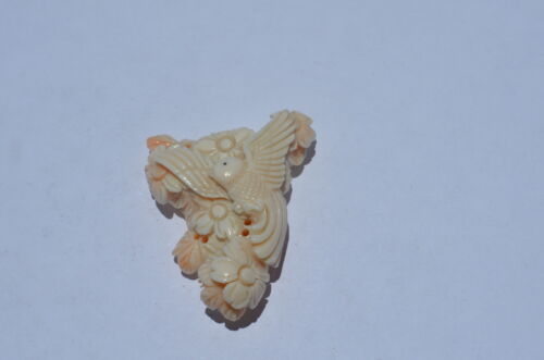 ANGEL SKIN CORAL, ANTIQUE HAND CARVED, MUSEUM QUALITY, 100% NATURAL/UNTREATED, A