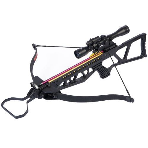 180 lb Black Hunting Crossbow Bow + 4x20 Scope + 7 Arrows / Bolts 175 150 80 50Crossbows - 33972