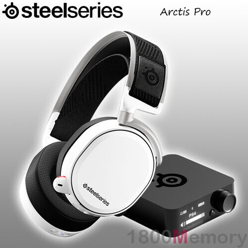 GENUINE SteelSeries Arctis Pro Wireless RF Gaming Headset Bluetooth White PC PS4