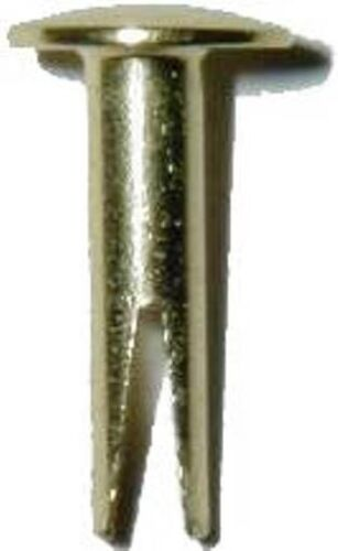 """SPLIT RIVETS - BRASS PLATED - 5/8"""" FOR TRUNKS  SOLD IN LOTS OF 50, D-3751"""