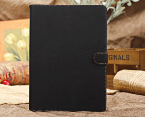 Black Leatherette Apple iPad Air/5 Suede Executive Business Diary-Style Case