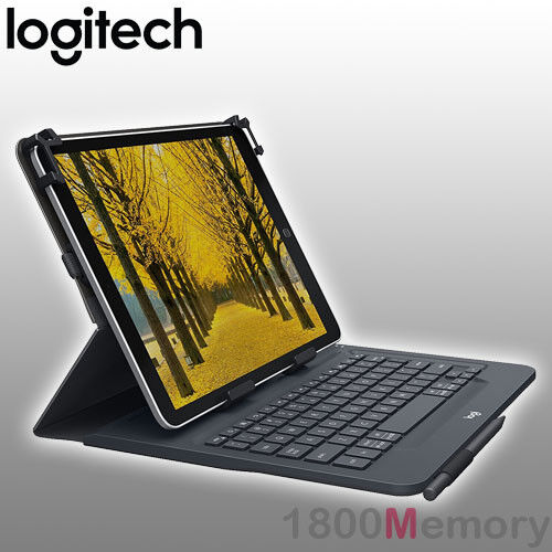 "GENUINE Logitech Universal Folio Case Bluetooth Keyboard fo 9""-10"" Apple Android"