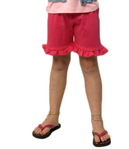 Ruffle Trimmed Shorts 100% Cotton Mid-Thigh Many Colors SO SOFT Infant Toddler