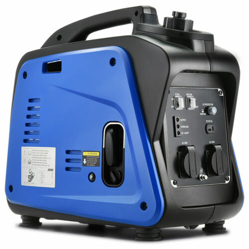 NEW GenTrax Inverter Generator 2KW Max 1.7KW Rated Pure Sine Portable Camping <br/> Upgraded Model 12v + 2 x 240V AC Sockets 1 yr wrty