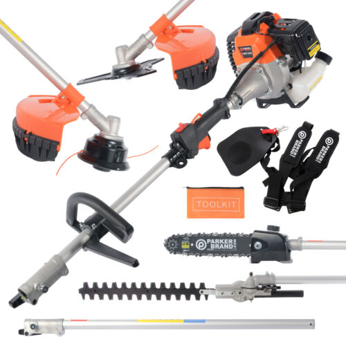 52cc Multi Function 5 in 1 Garden Tool - Brush Cutter, Grass Trimmer, Chainsaw, <br/> UK Service ✔ Free Delivery* Available ✔ 2 Year Warranty