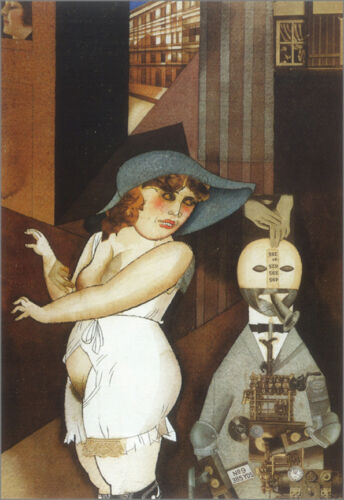 Daum Marries her Automaton  by George Grosz  Giclee Canvas Print Repro