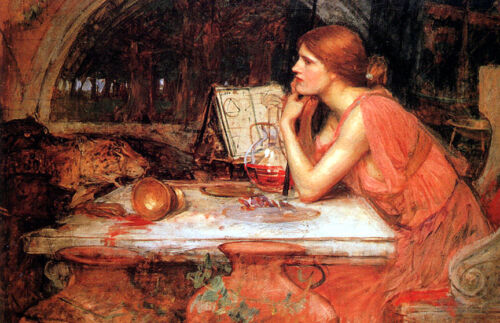 The Sorceress    by John William Waterhouse  Giclee Canvas Print Repro