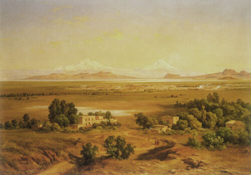 Mexico Valley seen from the Tepeyac   by Diego Rivera Giclee Canvas Print Repro