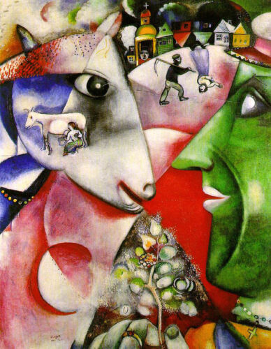 I And The Village  Marc Chagall   Giclee Canvas Print Repro