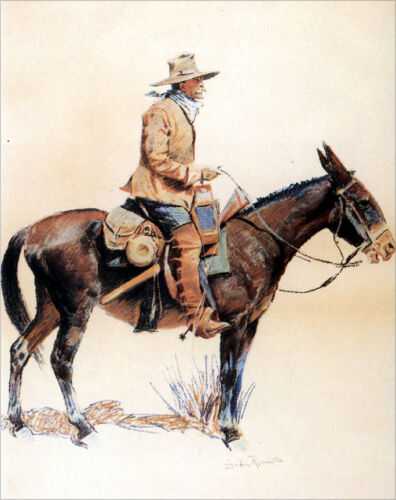 An Army Packer...  by Frederic Remington   Giclee Canvas Print Repro