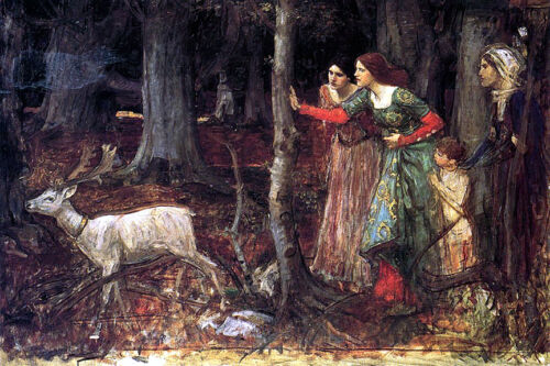 The Mystic Wood  by John William Waterhouse  Giclee Canvas Print Repro