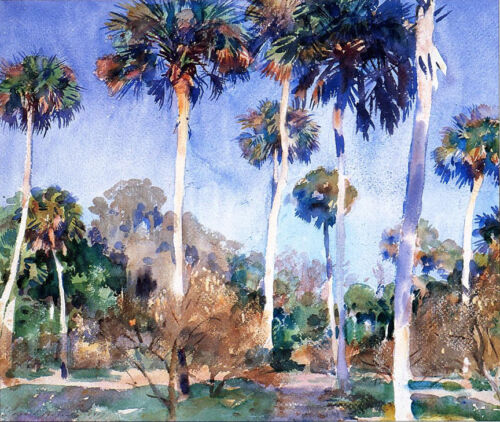 Palms  by John Singer Sargent Giclee Canvas Print Repro