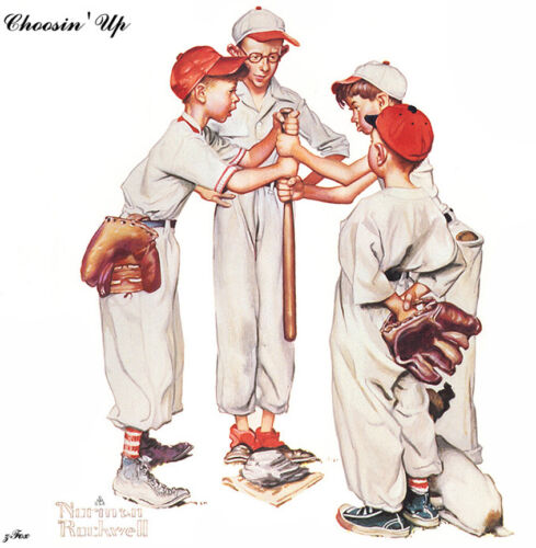 Choosin up  by Norman Rockwell   Giclee Canvas Print Repro
