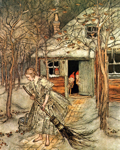 She Found Strawberries...  by Arthur Rackham  Giclee Canvas Print Repro