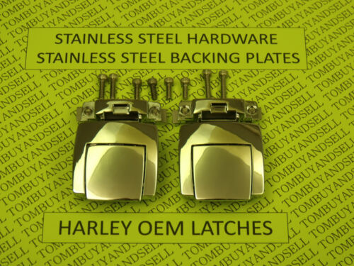 OEM for HARLEY DAVIDSON TOUR PACK LATCHES CLASSIC ELECTRA GLIDE ULTRA PAK PAC HD <br/> Franzen OEM Harley the real Mc Coy, not a copy be SURE