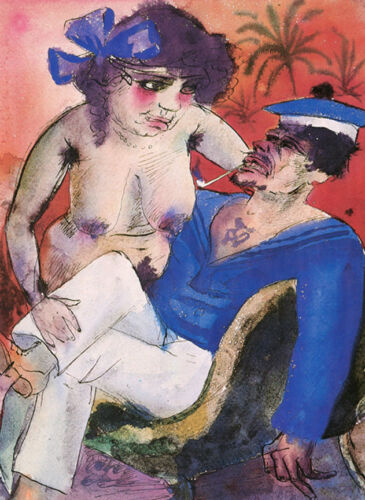 Sailor and his Darling  by Otto Dix   Giclee Canvas Print Repro