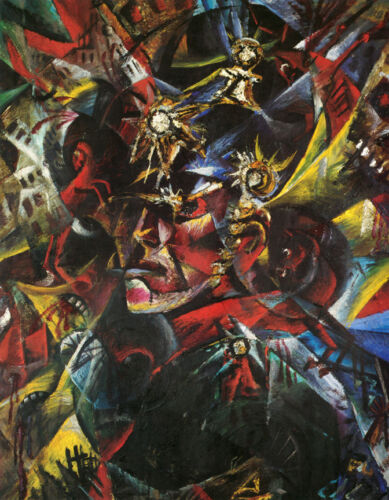 Self Portrait as Mars  by Otto Dix   Giclee Canvas Print Repro