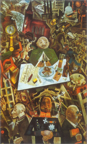 Germany, a Winter's Tale  by George Grosz  Giclee Canvas Print Repro