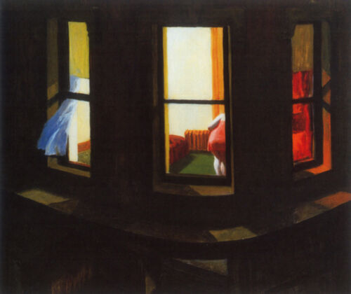 Night Window  by Edward Hopper   Giclee Canvas Print Repro