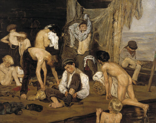 The Swimming Hole  by Max Liebermann  Giclee Canvas Print Repro