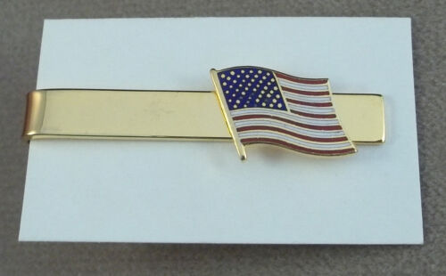 """United States Flag Tie Bar """" Old Glory """" New Old StockOther Militaria (Date Unknown) - 66534"""