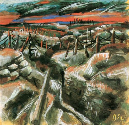 Trenches  by Otto Dix   Giclee Canvas Print Repro