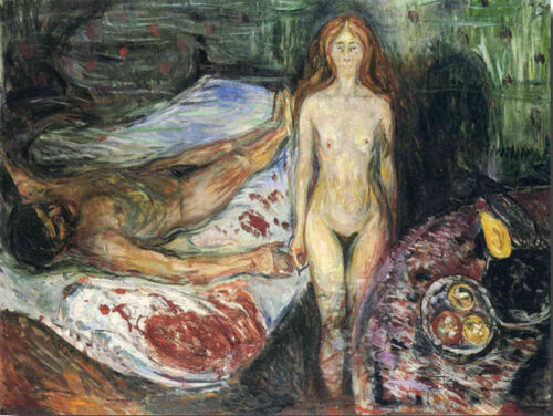Death of Marat  by Edvard Munch   Giclee Canvas Print Repro