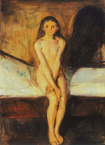 Puberty  by Edvard Munch   Giclee Canvas Print Repro