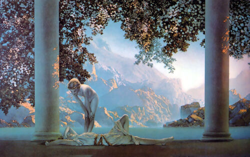 Daybreak  by Maxfield Parrish   Giclee Canvas Print Repro