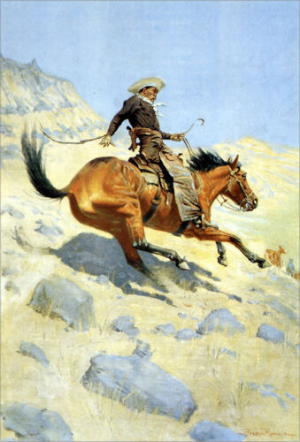 The Cowboy  by Frederic Remington   Giclee Canvas Print Repro